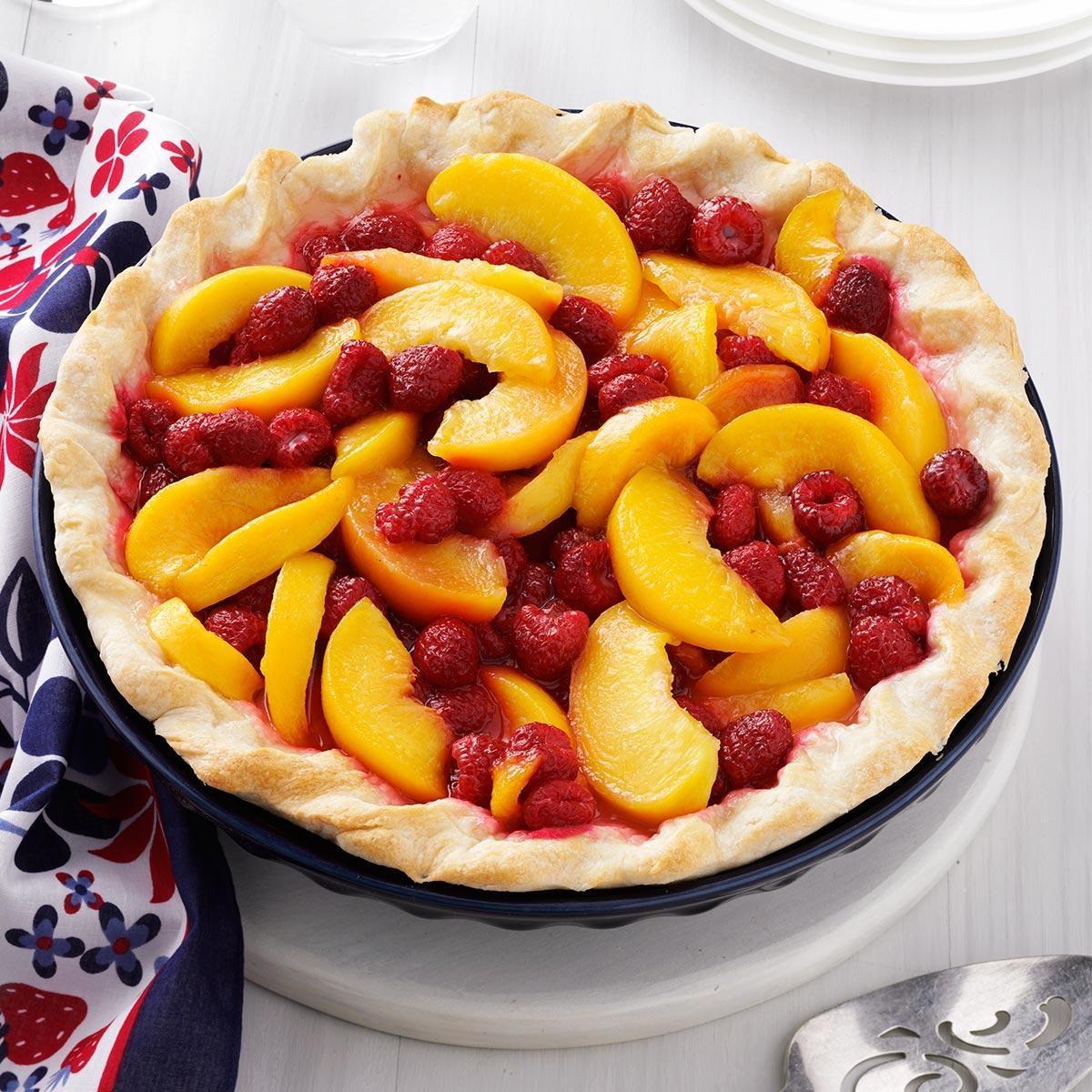 Raspberry Peach Pie Recipe | Taste of Home