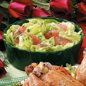 Grapefruit Lettuce Salad