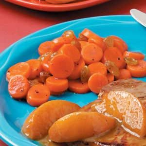 Maple Raisin Carrots