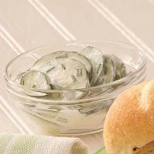 Cucumbers in Sour Cream