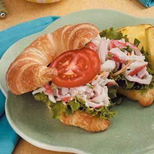 Crab Salad on Croissants
