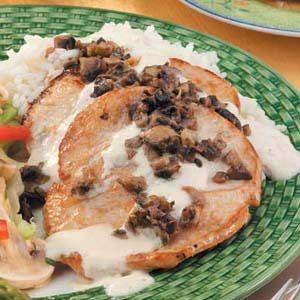 Turkey with Mushrooms and Cream
