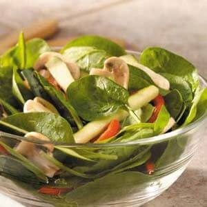 Roasted Pepper Spinach Salad