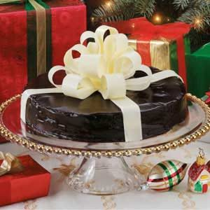Gift-Wrapped Chocolate Cake