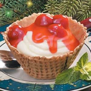 Cheesecake Waffle Cups
