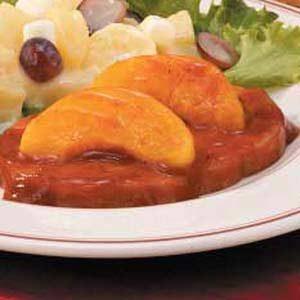 Barbecued Ham 'n' Peaches