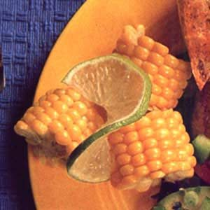 Corn Wheels with Lime Butter