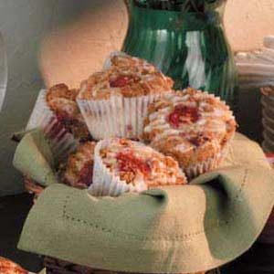 Glazed Raspberry Streusel Muffins