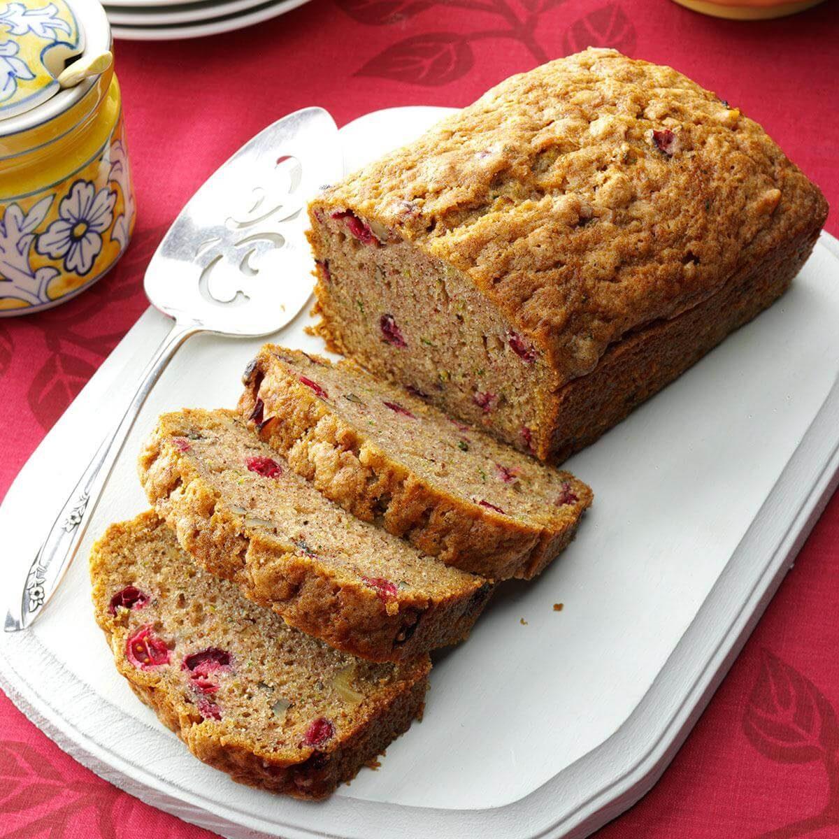 Cranberry Zucchini Bread Recipe | Taste of Home