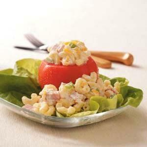 Macaroni Salad Tomato Cups