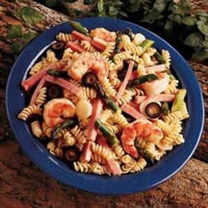 Hot Asparagus Pasta Salad
