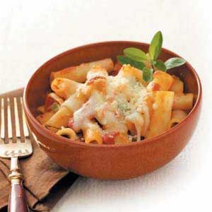 Four-Cheese Baked Ziti