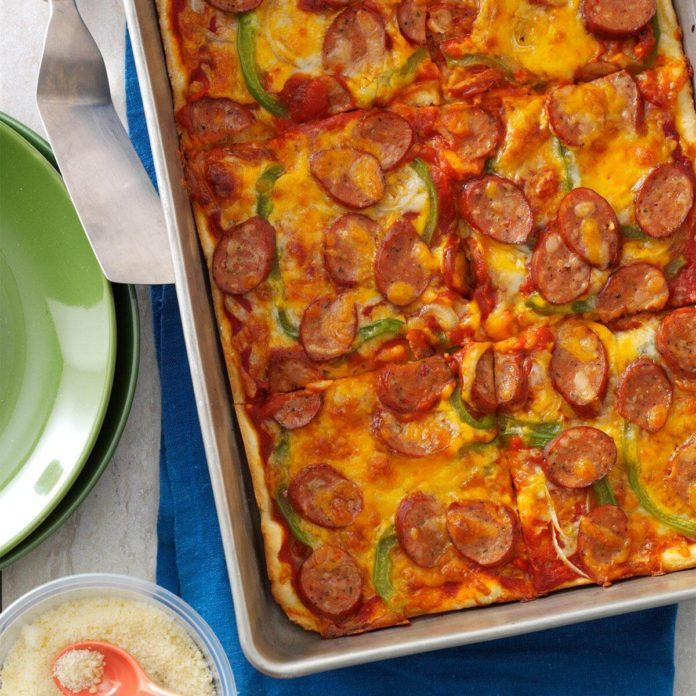 Sausage & Pepper Pizza