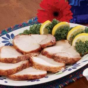 Lemon-Plum Pork Roast