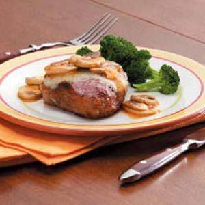 Mushroom-Swiss Lamb Chops