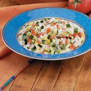 Squash and Zucchini Rice Medley