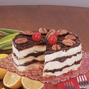 Hot Fudge Ice Cream Dessert