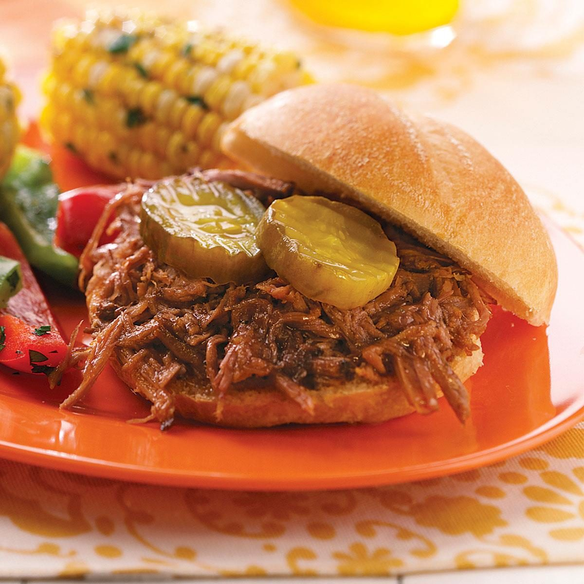 Shredded Barbecue Beef Sandwiches