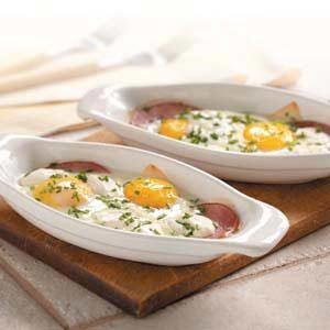 Baked Eggs Lorraine