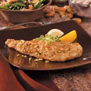 Pistachio-Crusted Fried Fish