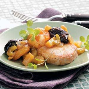 Chops with Mixed Fruit