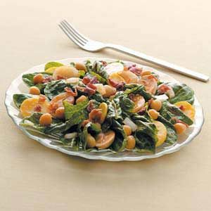 Sweet-Sour Spinach Salad with Bacon