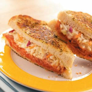Toasted Barbecued Ham Sandwiches