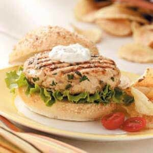 Turkey Burgers with Herb Sauce
