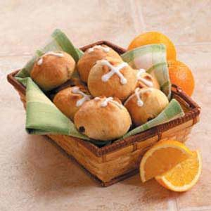 Orange Hot Cross Buns