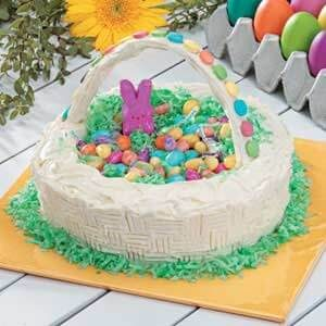 Groovy Easter Basket Candy Cake Recipe Taste Of Home Funny Birthday Cards Online Fluifree Goldxyz