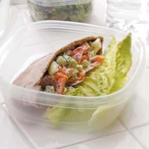 Salmon Salad Pitas
