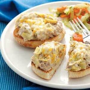 Day 26: Tuna Artichoke Melts