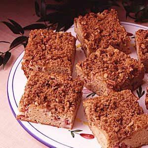 Rhubarb Streusel Coffee Cake