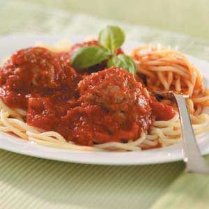 Spaghetti with Italian Meatballs