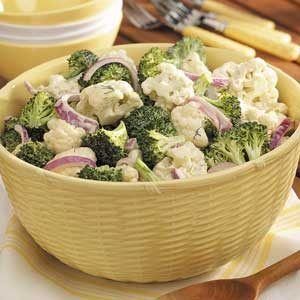 Broccoli-Cauliflower Floret Salad