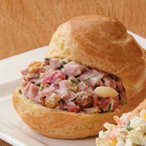 Ham Salad Puffs