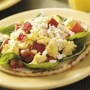 Mediterranean Breakfast Pitas