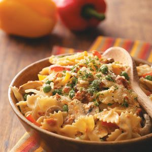 Vegetable Pasta With Sun Dried Tomato Sauce