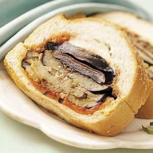 Eggplant-Portobello Sandwich Loaf