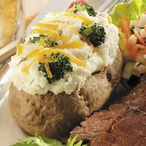 Broccoli-Stuffed Potatoes with Dill