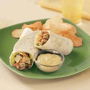 Curry Chicken Salad Wraps