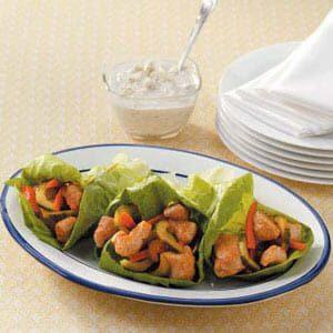 Buffalo Chicken Lettuce Wraps
