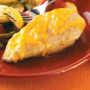 Cheese-Topped Lemon Chicken Breasts