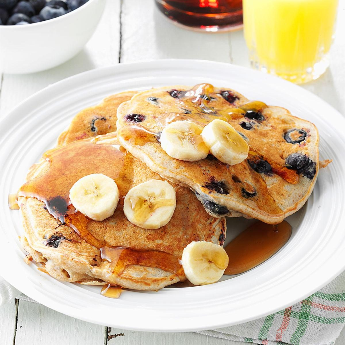 Watch Whole-Grain Banana Blueberry Pancakes video