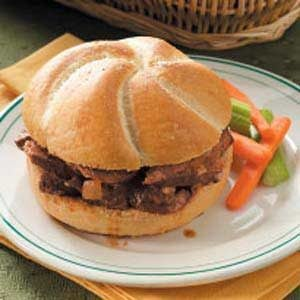 Baked Barbecued Beef Sandwiches