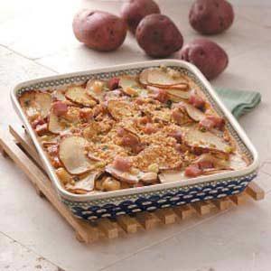 Saucy Potatoes with Ham