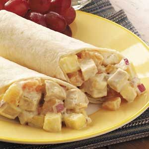 Fruity Chicken Wraps