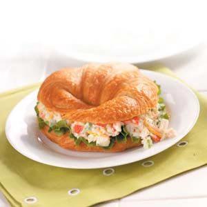 Crab Salad Croissants