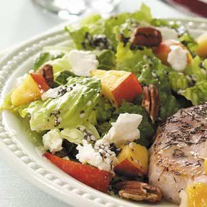 Nectarine Pecan Salad