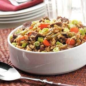 Beef and Wild Rice Medley